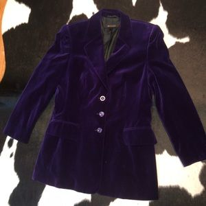 Escada purple velvet blazer jacket, size 38